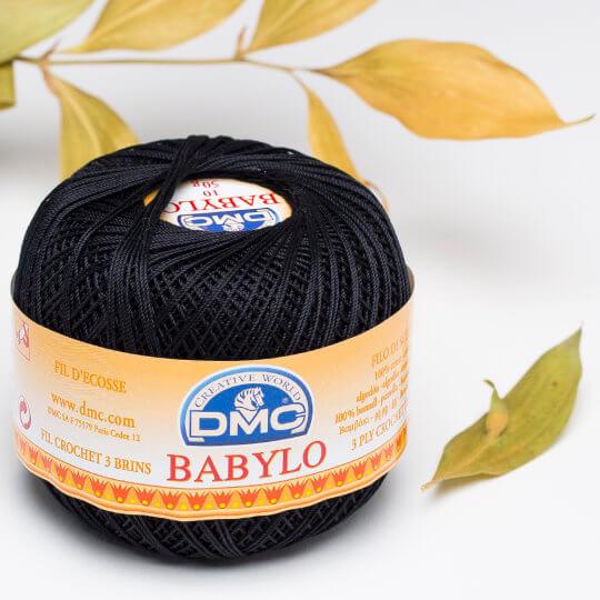 Dmc Babylo 50gr Siyah Merserize Dantel ve Ağ İpliği No:10 - 310