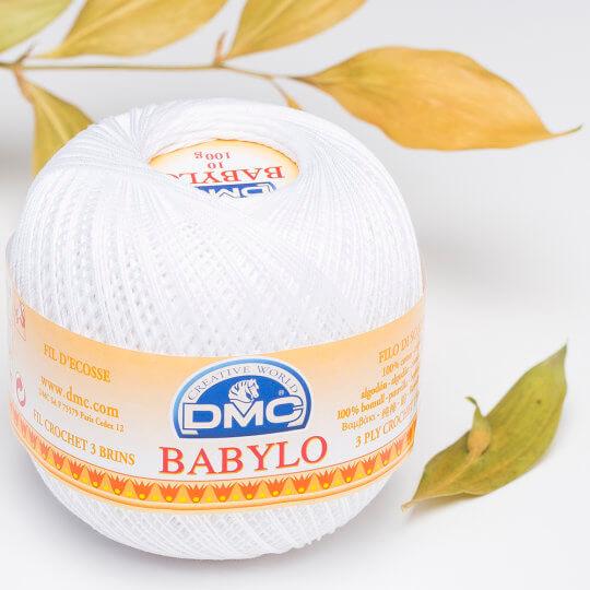 Dmc Babylo 100gr Beyaz Merserize Dantel ve Ağ İpliği No:10 - B5200