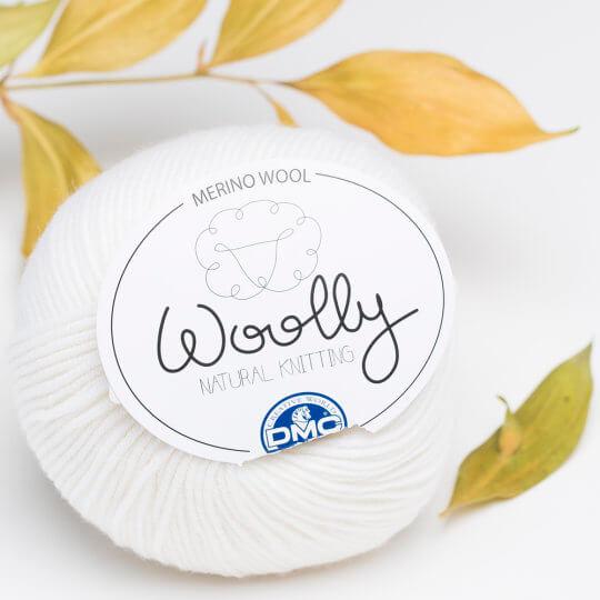 DMC Woolly Beyaz Merino Bebek Yünü - 01