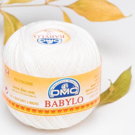 Dmc Babylo 100gr Kırık Beyaz Merserize Dantel ve Ağ İpliği No:10 - Blanc