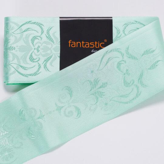 Fantastic Su Yeşili Jakarlı Saten Kurdele - 94969