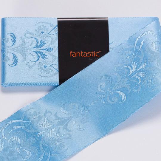 Fantastic Mavi Jakarlı Saten Kurdele - 94969