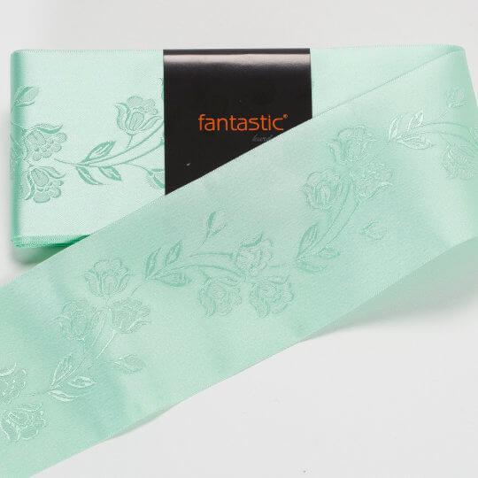Fantastic Su Yeşili Jakarlı Saten Kurdele - 94967