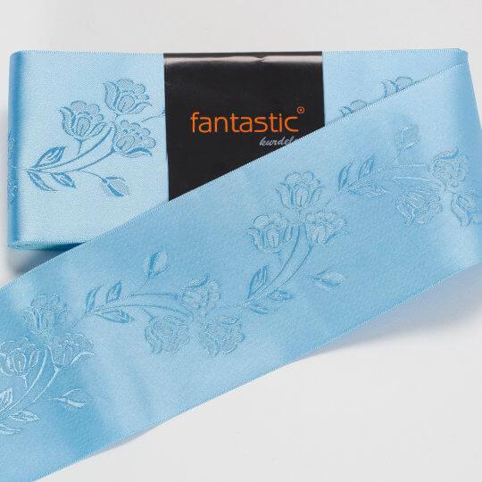 Fantastic Mavi Jakarlı Saten Kurdele - 94967