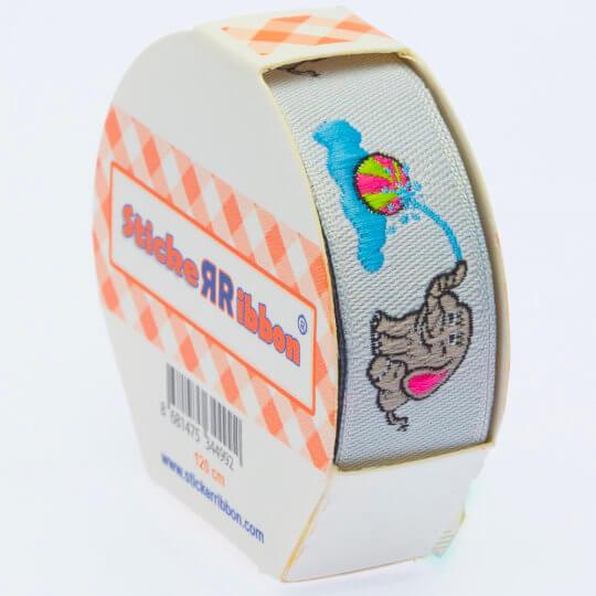 Sticker Ribbon Fil Baskılı Yapışkan Kurdele - SR-1696
