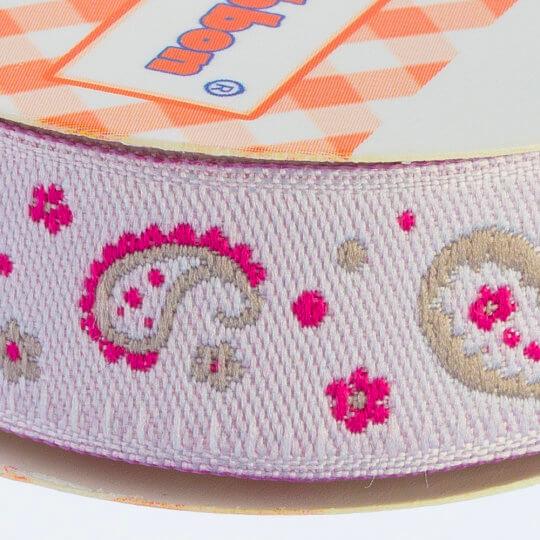 Sticker Ribbon Pembe Motif Baskılı Yapışkan Kurdele - SR-1691-V2