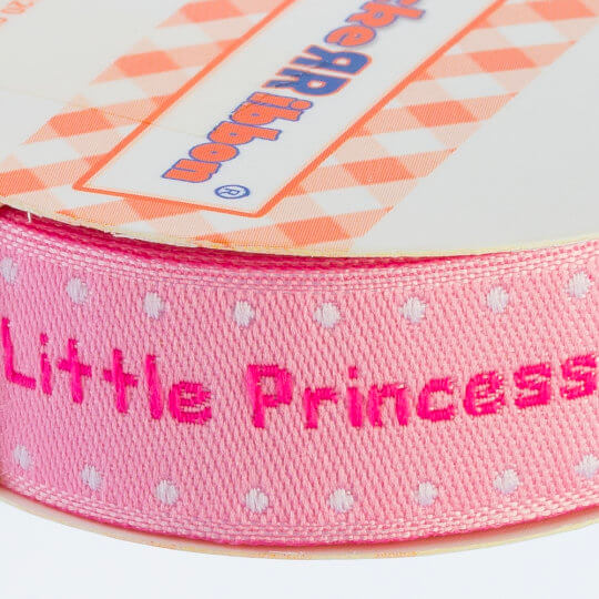 Sticker Ribbon Pembe Bebe Baskılı Yapışkan Kurdele - SR-1688