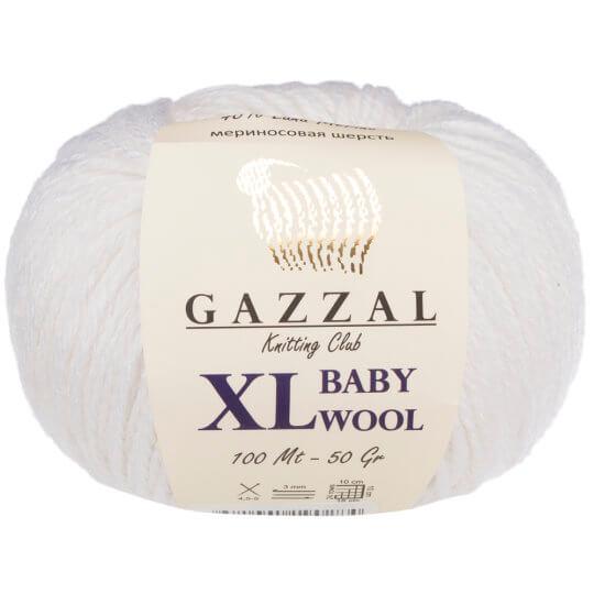 Gazzal Baby Wool XL Beyaz Bebek Yünü - 801XL