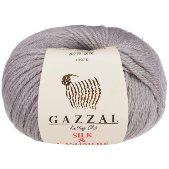 Gazzal Silk&Cashmere Gri El Örgü İpi - 462