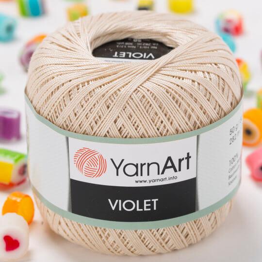 Yarnart Violet Bej Dantel İpi - 6194