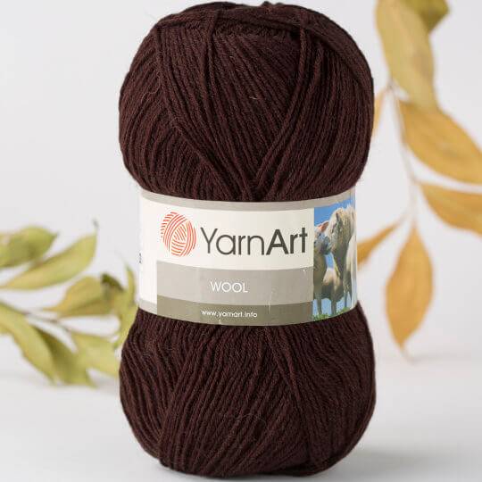 Yarnart Wool Kahverengi El Örgü İpi - 116