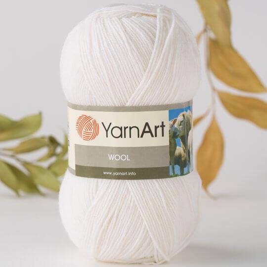 Yarnart Wool Beyaz El Örgü İpi - 501