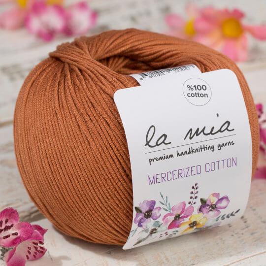 La Mia Mercerized Cotton Açık Kahverengi El Örgü İpi - 211