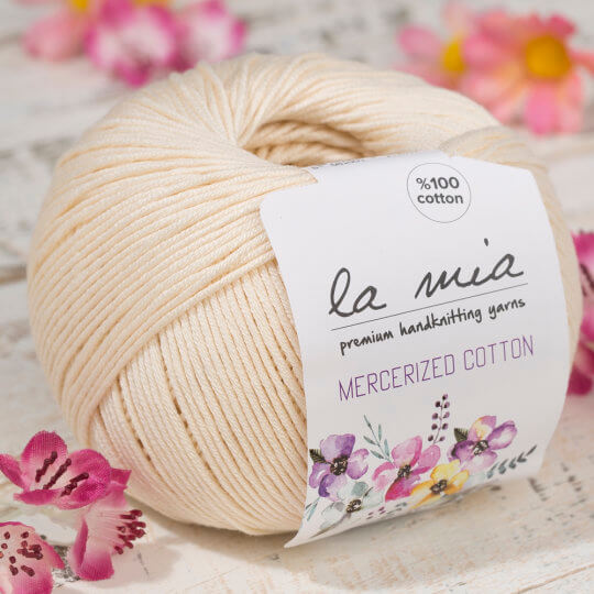 La Mia Mercerized Cotton Koyu Krem El Örgü İpi - 174