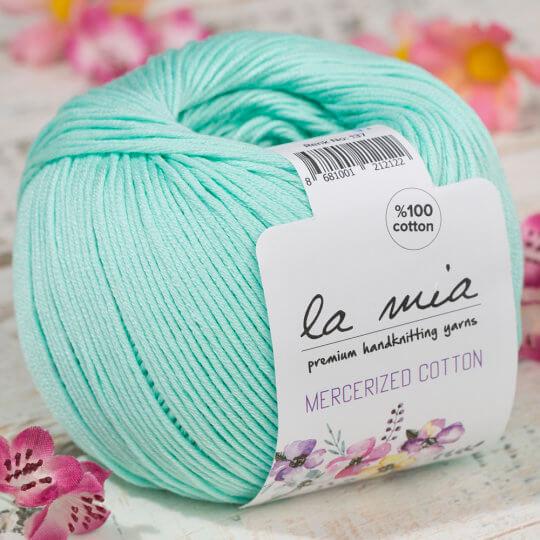 La Mia Mercerized Cotton Açık Yeşil El Örgü İpi - 137