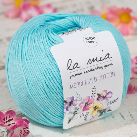La Mia Mercerized Cotton Açık Mavi El Örgü İpi - 123
