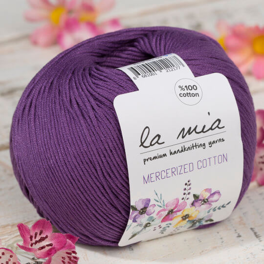 La Mia Mercerized Cotton Koyu Mor El Örgü İpi - 59