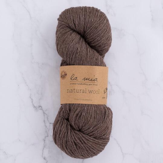 La Mia Natural Wool Koyu Kahverengi El Örgü İpi - H6