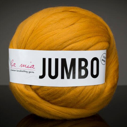 La Mia Jumbo Hardal Dev Yün El Örgü İpi - J5