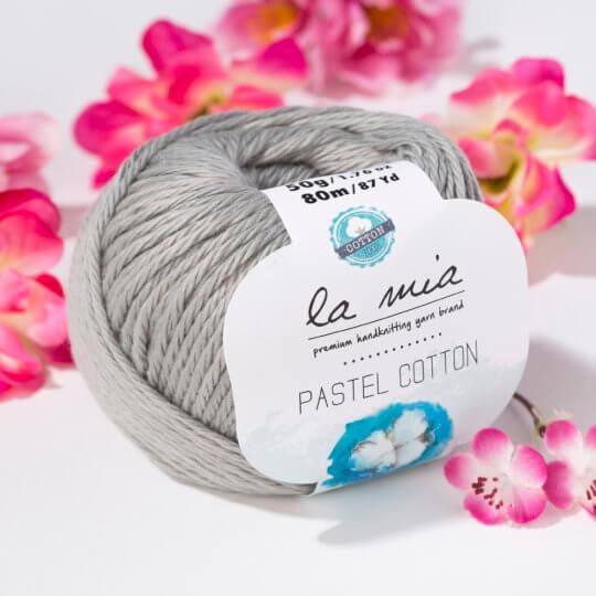 La Mia Pastel Cotton Gri El Örgü İpi - L062