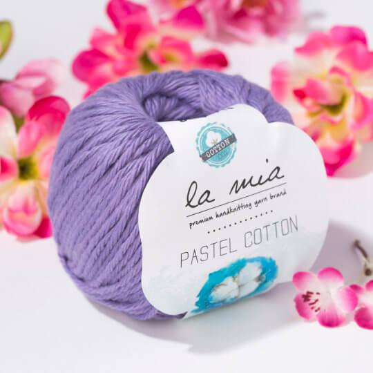 La Mia Pastel Cotton Lila El Örgü İpi - L059