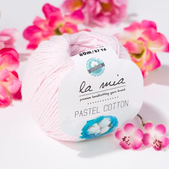 La Mia Pastel Cotton Pembe El Örgü İpi - L057