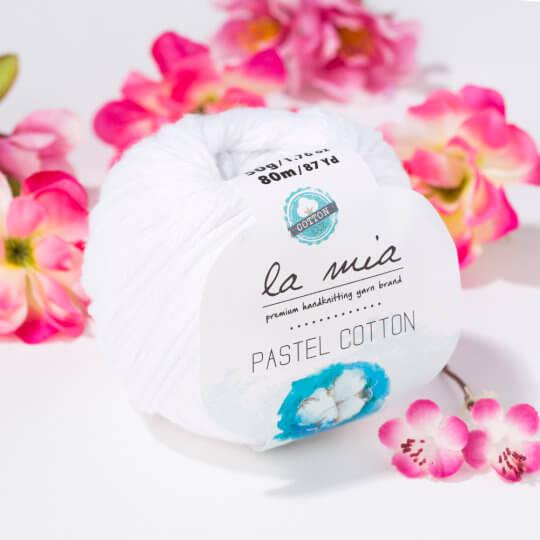 La Mia Pastel Cotton Beyaz El Örgü İpi - L001