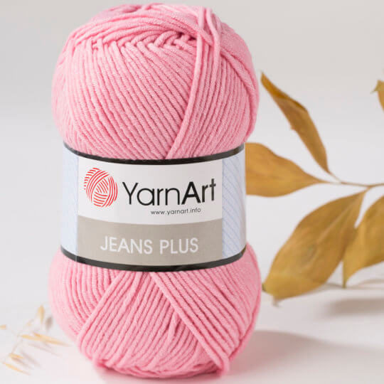 YarnArt Jeans Plus Toz Pembe El Örgü İpi - 36