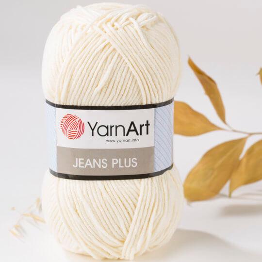 YarnArt Jeans Plus Krem El Örgü İpi - 3