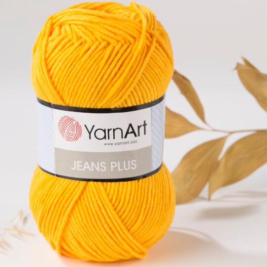 YarnArt Jeans Plus Sarı El Örgü İpi - 35