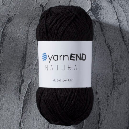 Yarnend 5'li Paket Natural Siyah El Örgü İpi - 2105S