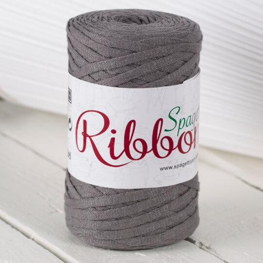 Spagettiyarn Ribbon Cotton Fabric Yarn, Grey - 6