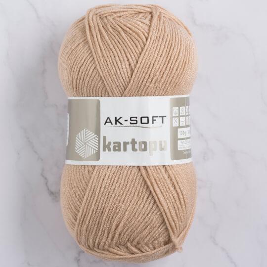 Kartopu Ak-Soft Bej El Örgü İpi - K872