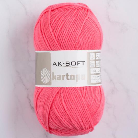 Kartopu Ak-Soft Pembe El Örgü İpi - K244