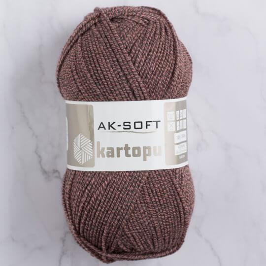Kartopu Ak-Soft Kahverengi El Örgü İpi - MU00925