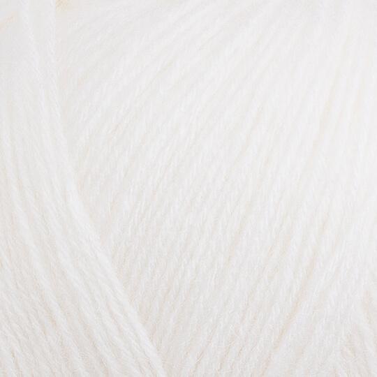 Kartopu Angora Natural Beyaz El Örgü İpi - K010