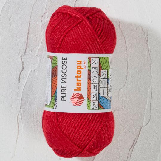 Kartopu Pure Viscose Kırmızı El Örgü İpi - K150
