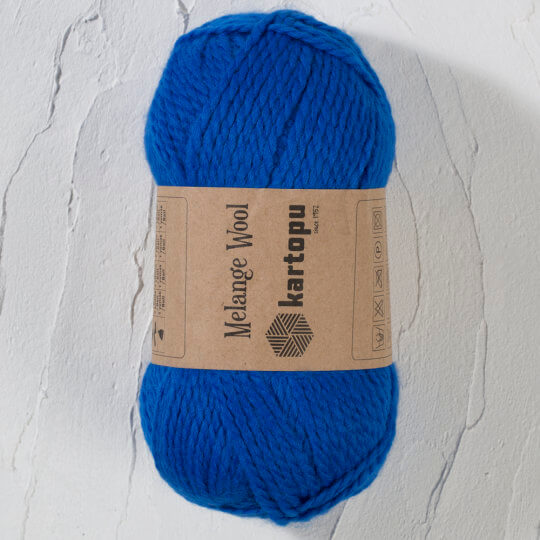 Kartopu Melange Wool Mavi El Örgü İpi - K627