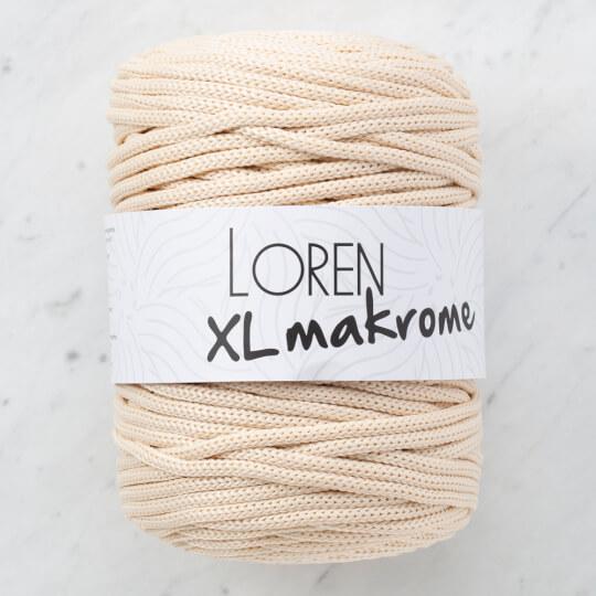 Loren XL Makrome Bej El Örgü İpi - R007