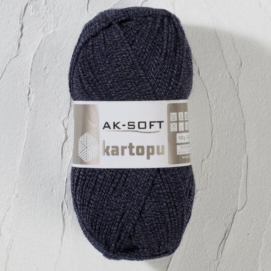 Kartopu Ak-Soft Kırçıllı Lacivert El Örgü İpi - MU00660
