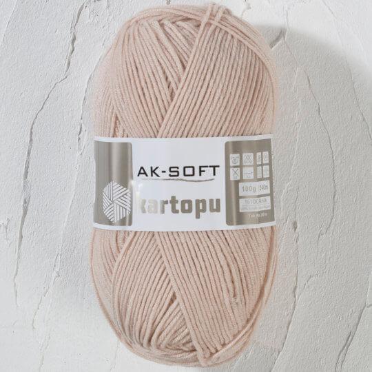 Kartopu Ak-Soft Bej El Örgü İpi - K855