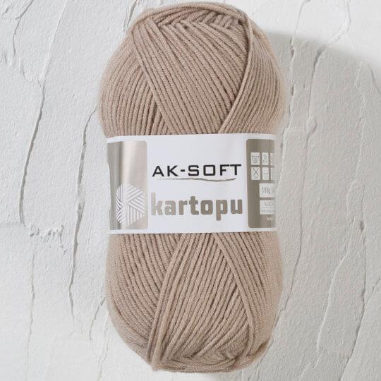 Kartopu Ak-Soft Bej El Örgü İpi - K5014