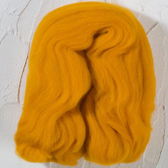 Gazzal Felt Wool Hardal Sarı Yün Keçe - 6125