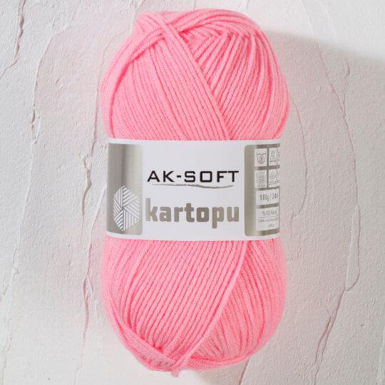 Kartopu Ak-Soft Açık Pembe El Örgü İpi - K791