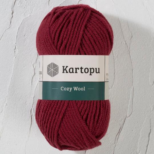Kartopu Cozy Wool Bordo El Örgü İpi - K1105