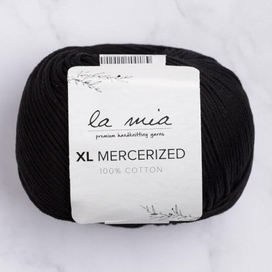 La Mia XL Mercerized Siyah El Örgü İpi - 1