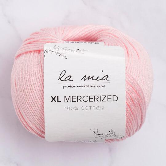 La Mia XL Mercerized Pembe El Örgü İpi - 4