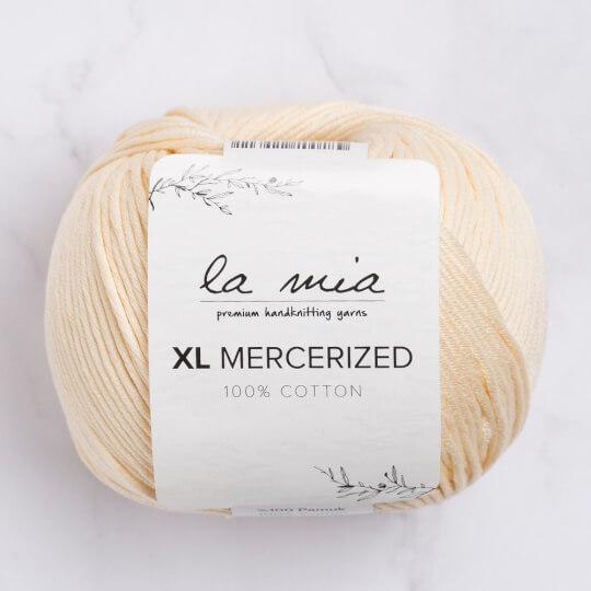 La Mia XL Mercerized Krem El Örgü İpi - 174
