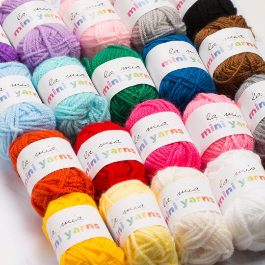 La Mia Mini Yarns 20'li Paket 10gr Renkli El Örgü İpi