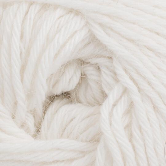 La Mia Angora 50gr Beyaz El Örgü İpi - L001